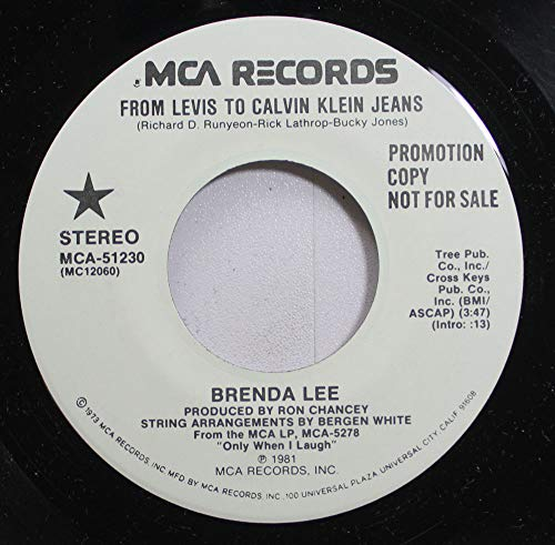 Price comparison product image BRENDA LEE 45 RPM FROM LEVIS TO CALVIN KLEIN JEANS / FROM LEVIS TO CALVIN KLEIN JEANS