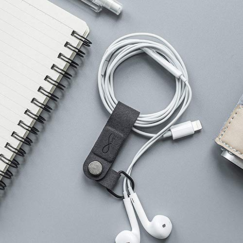 @FATO Bcase MEC Magnetic Earphone Clip Leather Buckle Portable Cable Earphone Wire Organizer Holder