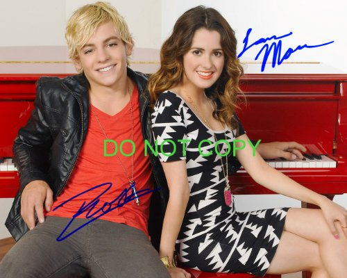 Austin & Ally reprint signed autographed photo #1 Ross Lynch Laura Marano RP R5