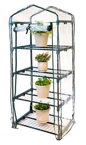 Trademark Innovations GRNHSE-MINI 4 Shelf Mini-Greenhouse with Cover