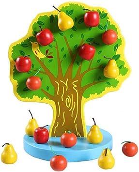 RETYLY Juguete del árbol Frutal con Peras Magnéticas árbol de Frutas de Cuerda de Huerto: Amazon.es: Juguetes y juegos