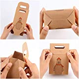 Coogam 1 Dozen Brown Kraft Paper Christmas Snack