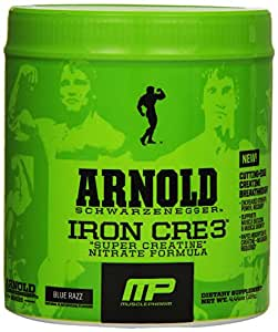 Muscle Pharm Arnold Schwarzenegger Iron CRE3 Creatine, Blue Razz 4.44oz