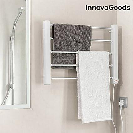 Toallero eléctrico pared innovagoods 65 W blanco gris (5 barras)