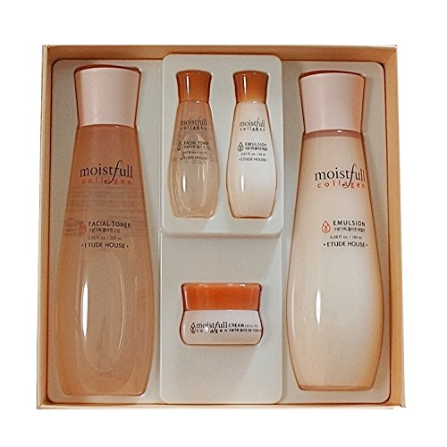 ETUDE HOUSE Moistfull Collagen Skin Care 2-Item Special Set Limited Edition Toner and Emulsion