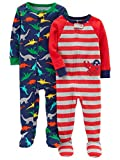 Carter's Baby Boys' 2-Pack Cotton Footed Pajamas, Crab/Dino, 18 Months