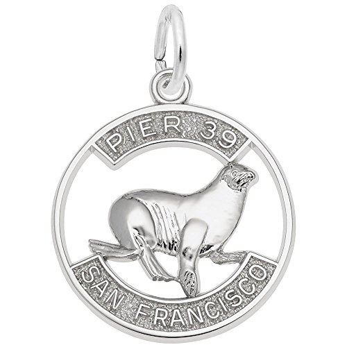 (Pier 39 Sea Lion Charm In Sterling Silver, Charms for Bracelets and Necklaces)