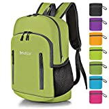 Bekahizar 20L Ultra Lightweight Backpack Foldable Hiking Daypack Rucksack Water Resistant Travel Day Bag for Men Women Kids Outdoor Camping Mountaineering Walking Cycling Climbing (Bright Green)