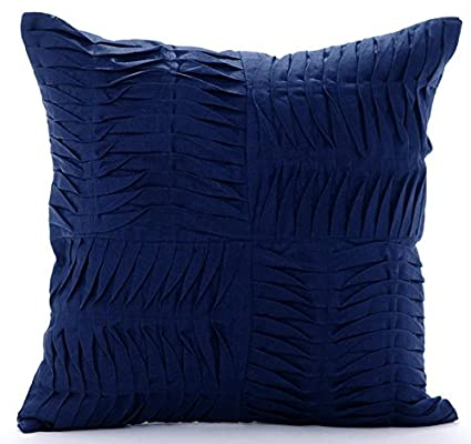 Amazon Designer Navy Blue Decorative Pillow Cover Textured Gorgeous Navy And White Decorative Pillows