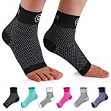 Cambivo Plantar Fasciitis Socks(2 Pairs), Ankle Support Brace with Arch Support for Men and Women, Fit for Plantar Fasciitis Pain Relief, Ankle Pain, Foot Pain, Heel Pain, Arch Pain, Swelling, Achilles Tendon, Running, Hiking, Tennis
