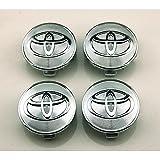 BENZEE 4pcs W056 62mm Car Styling Accessories Emblem Badge Sticker Wheel Hub Caps Centre Cover TOYOTA COROLLA RAV4 Camry PRIUS REIZ VIOS YARIS EZ VENZA HIGHLANDER ALPHARD PREVIA