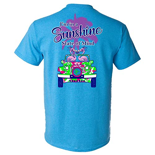 Southern Charm Collection I'm in a Sunshine State of Mind on a Heather Saphire T Shirt ()