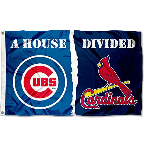 WinCraft Chicago Cubs and St. Louis Cardinals House Divided Flag