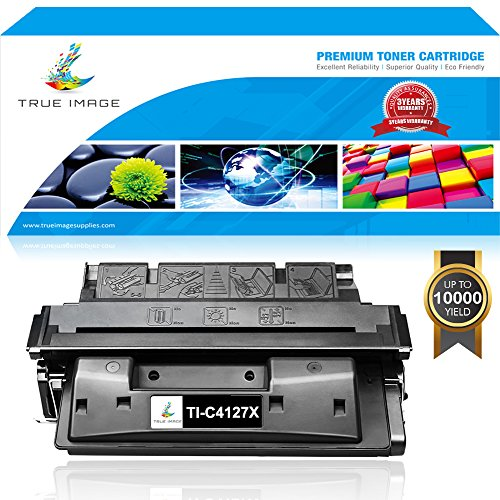 TRUE IMAGE 1 Pack Compatible for C4127X 27X Toner Cartridge Used For LaserJet 4050 4000 4000N 4050N 4050TN 4000SE 4000T 4000TN 4050DN 4050T 4050SE Printer (4050n Laser)