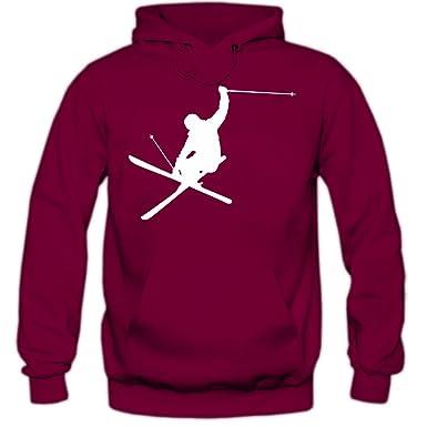Shirt Happenz Ski Jumper Sudadera con Capucha | Hombre | Deporte de Invierno | Esquí Alpino