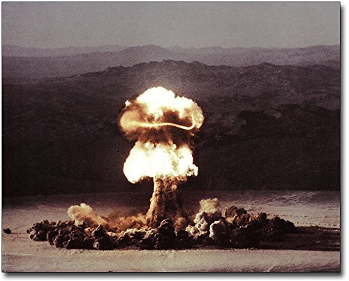 Atomic Bomb Testing Fireball Mushroom Cloud 11x14 Silver Halide Photo Print