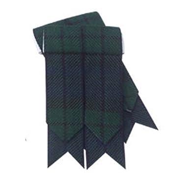 buona qualità come scegliere miglior sito Calze da Kilt scozzese, motivo stile tartan, con punte Black ...
