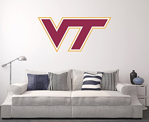 Virginia Tech Hokies Wall Decal Home Decor Art NCAA Team (Virginia Tech Wall)