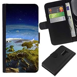 A-type ( Galassia Stelle 31) Colorida Impresión Funda Cuero Monedero Caja Bolsa Cubierta Caja Piel Card Slots Para LG G2 D800