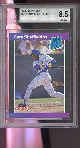 fan products of 1989 Donruss #31 Gary Sheffield ROOKIE RC NM-MT BGS 8.5 Graded Baseball Card