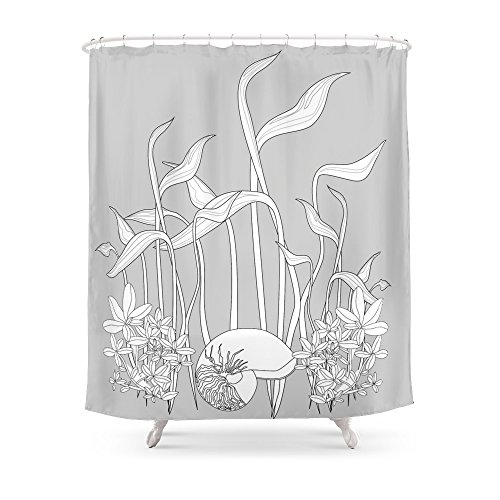 Review Society6 Underwater Plants, Seashell