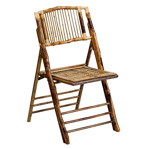 Flash Furniture 4 Pk. American Champion Bamboo Folding Chair, 4-X-62111-BAM-GG