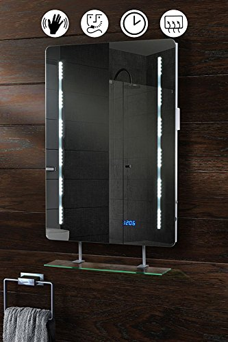 my furniture led illuminated bathroom mirror with shelf w 500 x