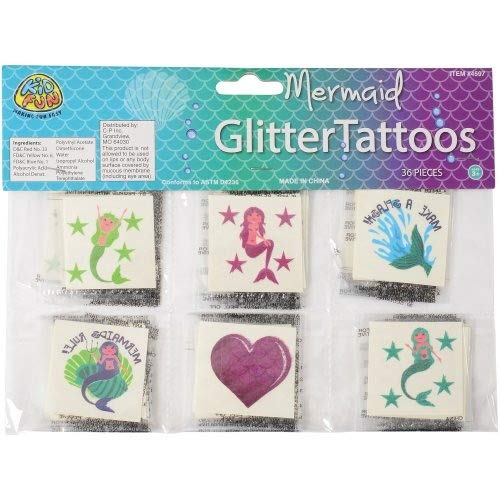 DollarItemDirect Mermaid Glitter TATTOOS/36-PC , Sold by 41 Packs