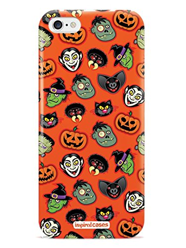 - Inspired Cases 3D Textured The Faces of Halloween Vampire Pumpkin Frankenstein Case for iPhone 6 & 6s