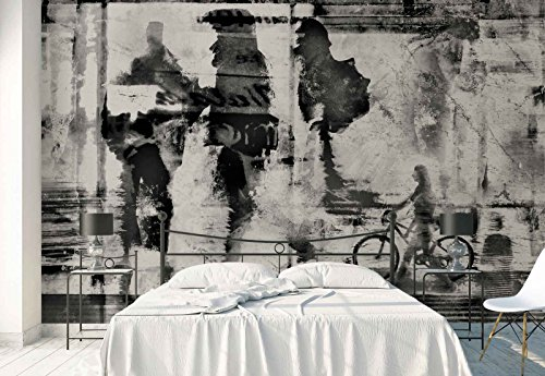 Photo wallpaper wall mural - Street Wall Torn Poster People Figures - Theme Street & Urban - XXL - 13ft 8in x 9ft 6in (WxH) - 4 Pieces - Printed on 130gsm Non-Woven Paper - 1X-1332061VEXXXXL