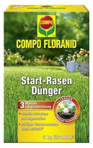 Compo 1349202004 Floranid Start-Rasendünger, 5 kg für 200 m²