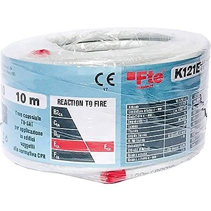 k121ew-10 Cable Coax 5 mm PVC ECA 10 mt. FTE Maximal