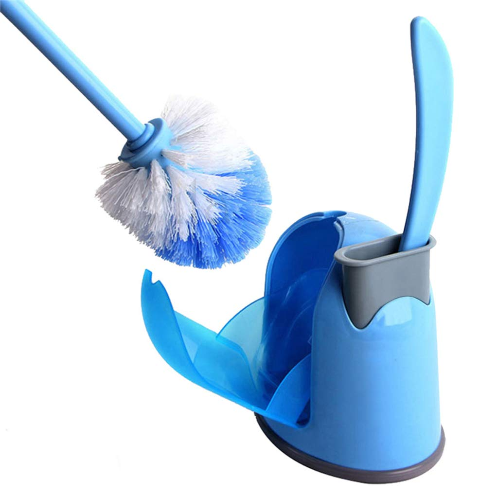 99.9% Germs Killer 2-in-1 Toilet Brush -- Big Brush to clean toilet - Small Brush to clean groove and corner - Supplementary Drip Tray for Drainage - Compact, easy storage Toilet Brush