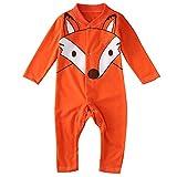 Baby Boys Girls Fox Romper Autumn Long Sleeve Cotton Bodysuit Warm Outfits Playsuit