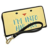 Wallet Clutch I'm Into Hip Hop Easter Chick Face with Removable Wristlet Strap Neonblond