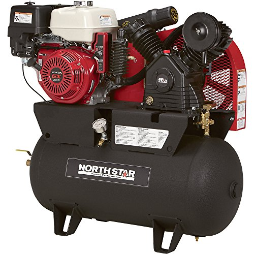 Northstar portable gas powered air compressor honda for Air compressor gas motor