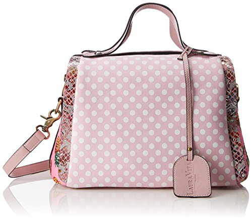Laura Vita Women's Dourges Shoulder Bag Pink (Rose)