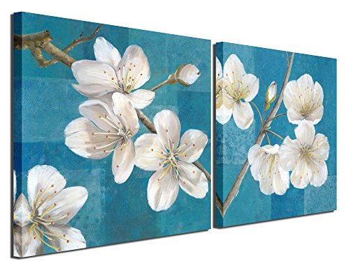 Gardenia Art - Pink Blue Green Rose Canvas Prints Wall Art P