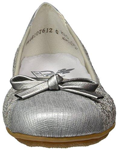 Ballerine Grigio Rieker 43952 staub 90 argento Donna silber tZqAqw
