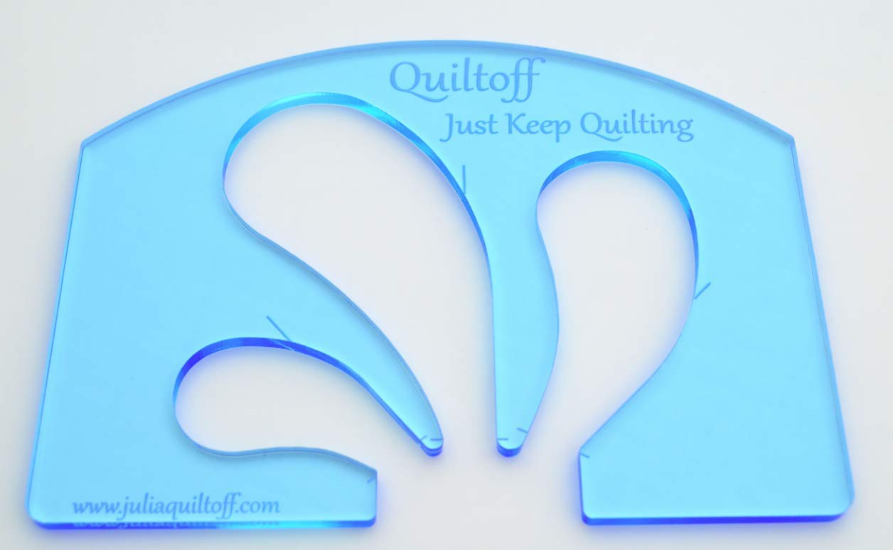 Feather Quilting Template (Blue) by Quiltoff