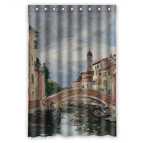 Long Tall Poppies (Cosbudy Polyester Eugene Boudin - Petit Canal A Venise Bath Curtains Width X Height / 48 X 72 Inches / W H 120 By 180 Cm Gift Or Decor For Wife Him Relatives Husband Father. Mildew Resis)