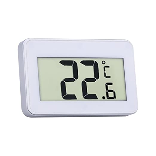 Kawn Magnetic Thermometer for Room Frige Temperature Gauge Tester White
