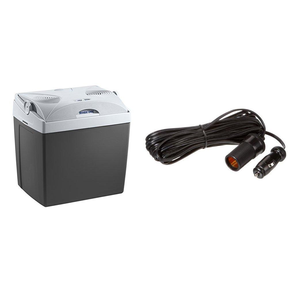 Mobicool Elektrische Kühlbox für Auto, Grau, 25 Liter + Mobicool 9105303826 Verlängerungskabel, 650 cm