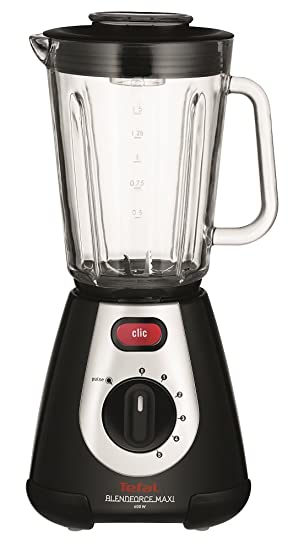 Tefal Blendforce Maxi Blender with 2 L Jug, 5 Speeds and Tripl'ax  Technology, 600 W, Black