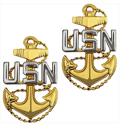 Vanguard NAVY COLLAR DEVICE: E7 CHIEF PETTY OFFICER - PIN BACK