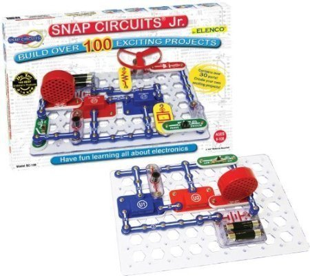 Snap-Circuits-Jr-SC-100-Electronics-Discovery-Kit-CustomerPackageType-Frustration-Free-Packaging-Model-SC-100B-Toys-Play-by-Kids-Play