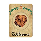 Welcome DOGUE DE BORDEAUX DOG LABEL DECAL STICKER Sticks to Any Surface - 8 In x 12 In