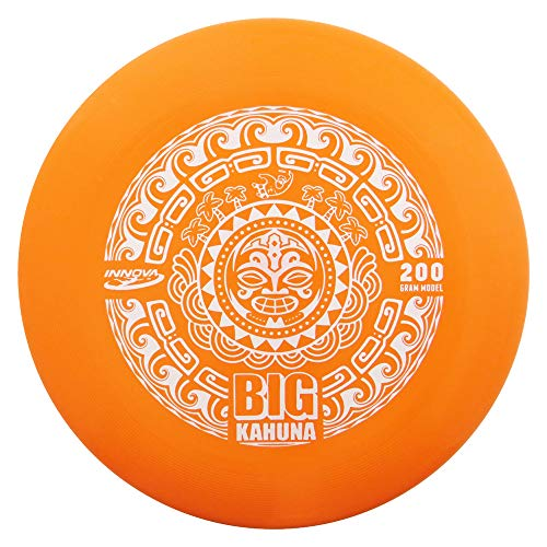 Innova Discs Big Kahuna 200g Heavyweight Ultimate Catch Disc [Hot Stamp Color May Vary] - Tiki Design - (Best Innova Frisbees)