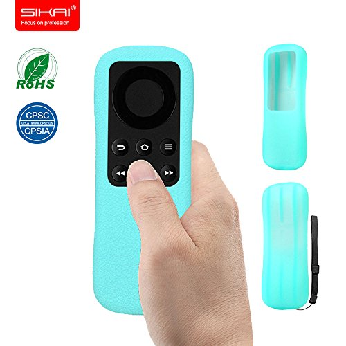 New Amazon Fire TV Stick Remote Case SIKAI Patent Amazon Fire TV Stick Remote Silicone Case for Amazon Fire TV Stick Remote Protector Case with Hand Strap Included (Luminous Blue)