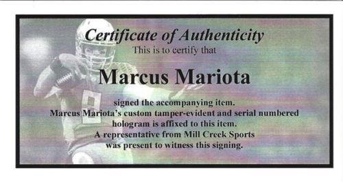 "Marcus Mariota Autographed Framed 20x24 Canvas Photo Oregon Ducks""Heisman '14"" #/8 MM Holo Stock #91859"